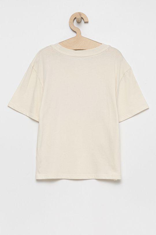 GAP - T-shirt bawełniany dziecięcy kremowy