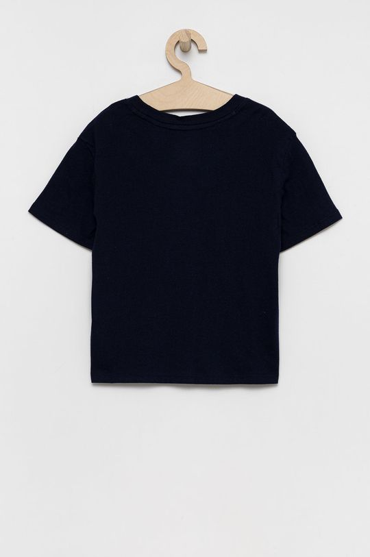 GAP - T-shirt bawełniany dziecięcy granatowy