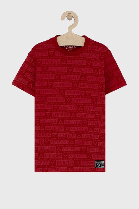 czerwony Guess - T-shirt dziecięcy Dziecięcy