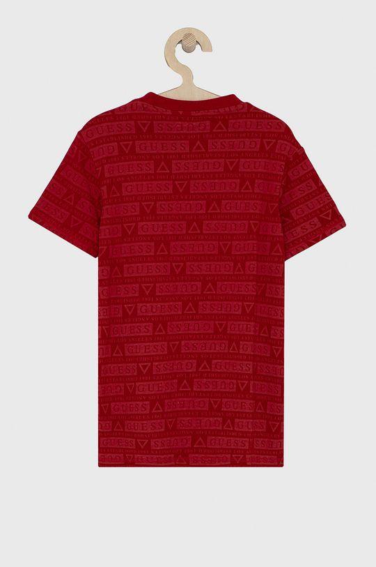 Guess - T-shirt dziecięcy czerwony