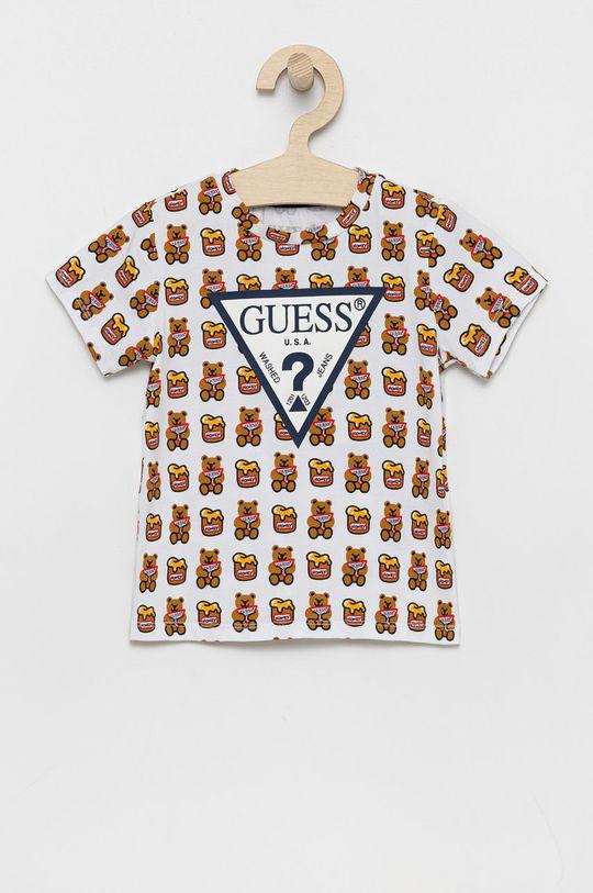 biały Guess - T-shirt dziecięcy Dziecięcy