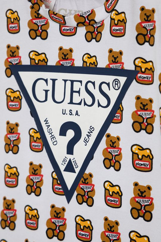 Guess - T-shirt dziecięcy 5 % Elastan, 95 % Bawełna organiczna