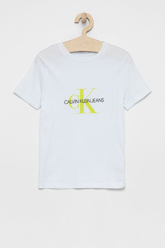 biały Calvin Klein Jeans - T-shirt bawełniany dziecięcy Dziecięcy