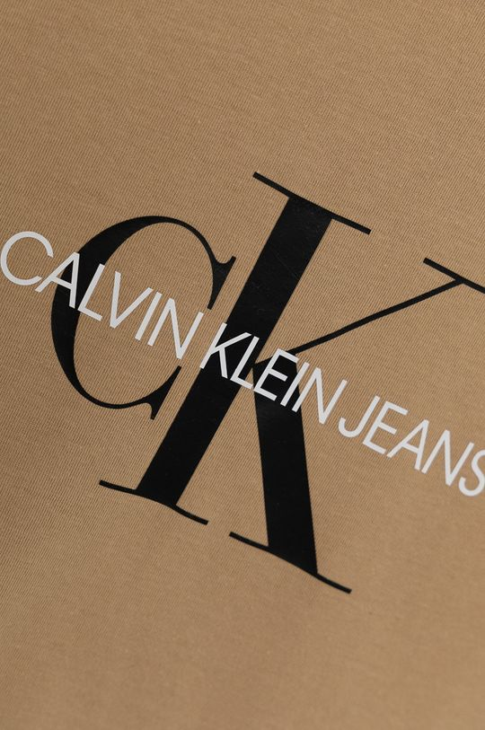 Calvin Klein Jeans - T-shirt bawełniany dziecięcy beżowy