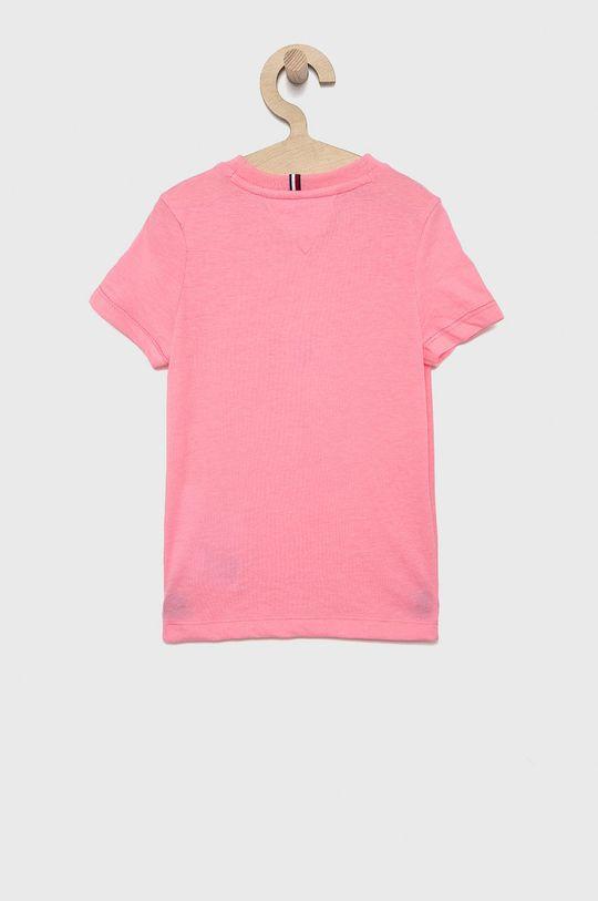 Tommy Hilfiger - T-shirt dziecięcy różowy