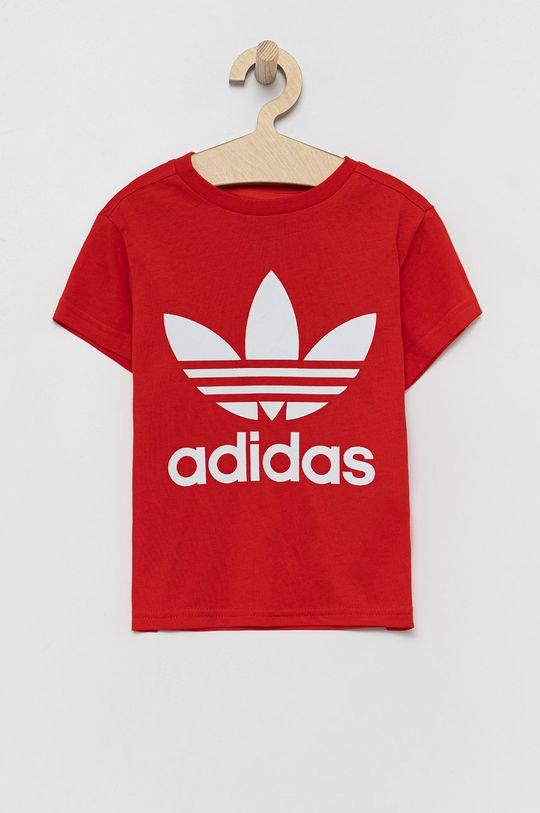 červená adidas Originals - Detské bavlnené tričko Detský