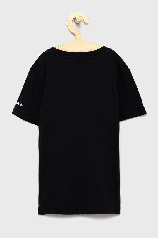 adidas Originals - T-shirt bawełniany dziecięcy czarny