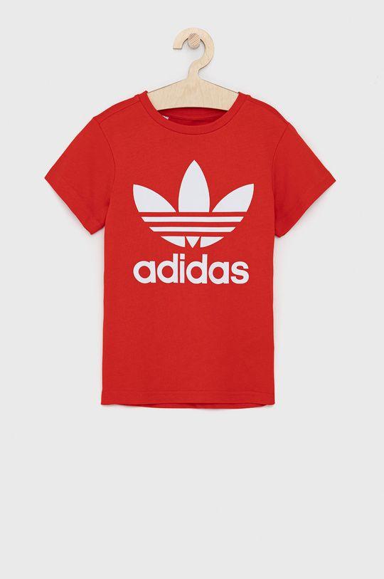 rosu adidas Originals - Tricou de bumbac pentru copii De copii