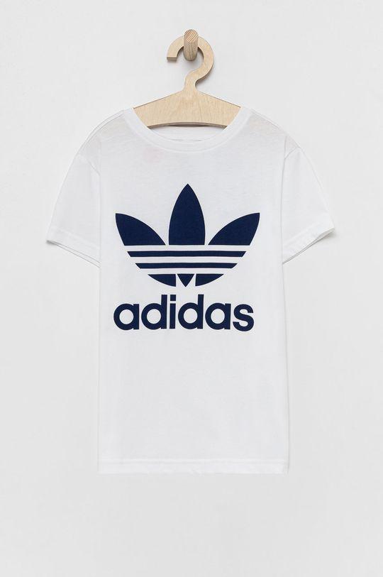 biały adidas Originals - T-shirt bawełniany dziecięcy Dziecięcy