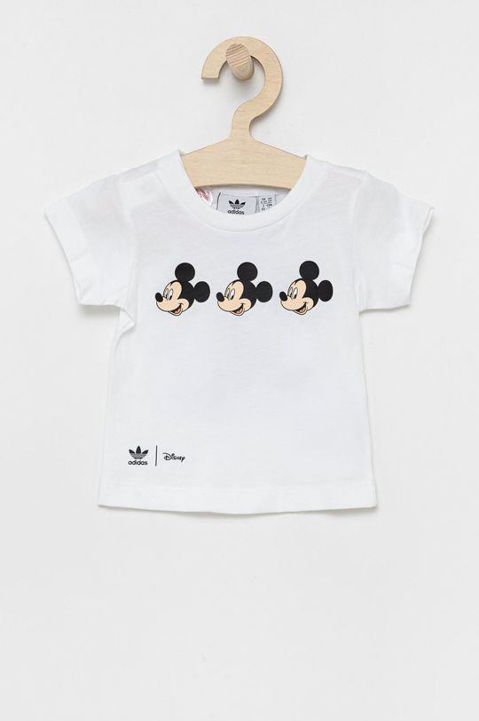 biały adidas Originals - T-shirt bawełniany dziecięcy x Disney Dziecięcy