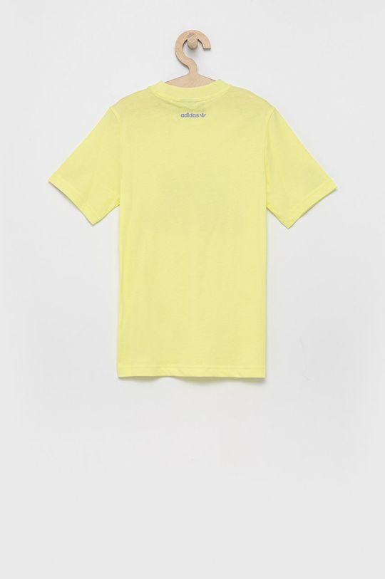 adidas Originals - Detské bavlnené tričko svetložltá