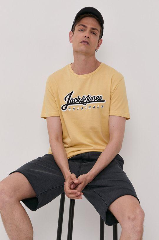 żółty Jack & Jones - T-shirt Męski