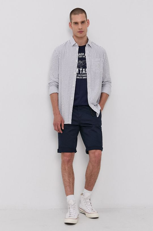 Tom Tailor - T-shirt granatowy