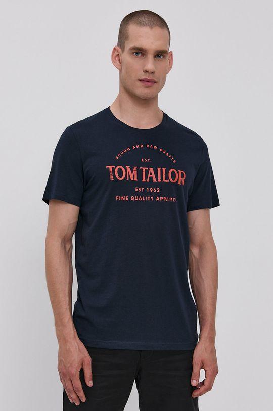granatowy Tom Tailor - T-shirt bawełniany Męski