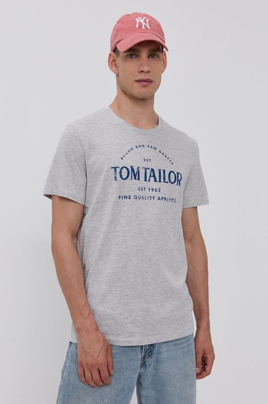 Tom Tailor - T-shirt bawełniany jasny szary