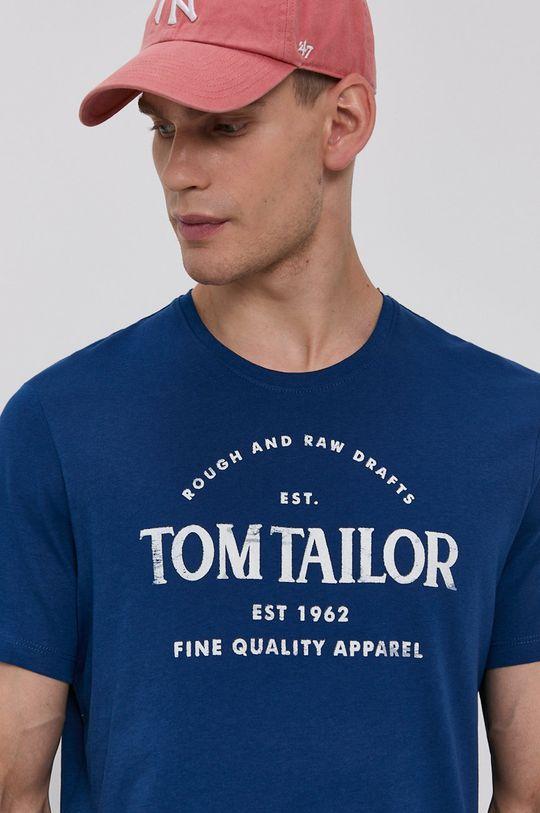 niebieski Tom Tailor - T-shirt bawełniany