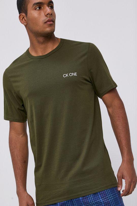okrová Calvin Klein Underwear - Pyžamové tričko Pánský