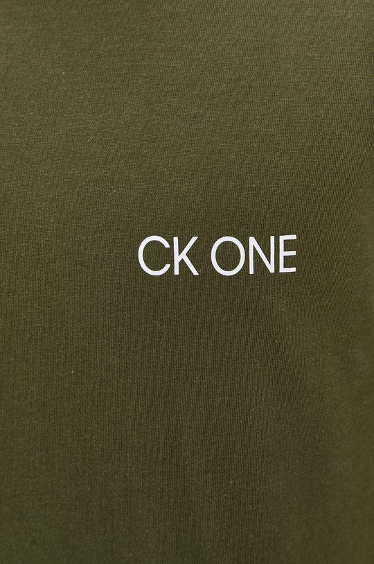 okrová Calvin Klein Underwear - Pyžamové tričko