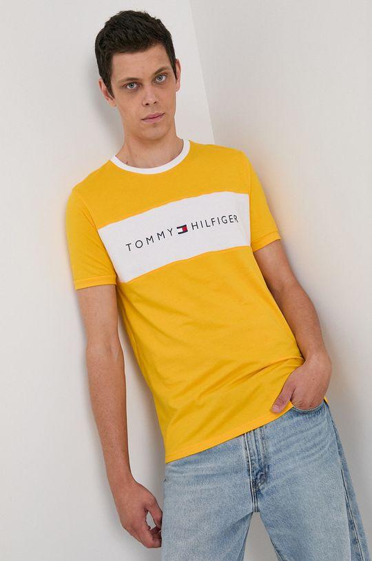 żółty Tommy Hilfiger - T-shirt Męski
