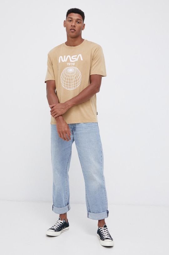 Only & Sons - Tricou din bumbac nisip