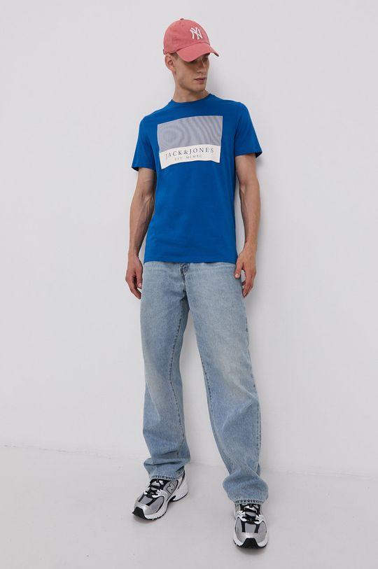 Jack & Jones - Bavlněné tričko modrá