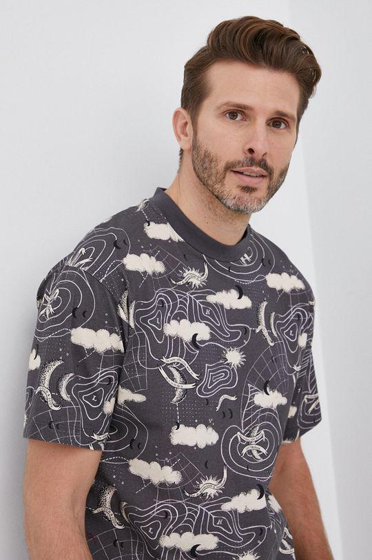 szary Scotch & Soda - T-shirt bawełniany Męski
