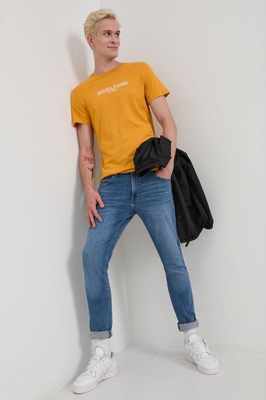 Jack & Jones - Bavlnené tričko oranžová