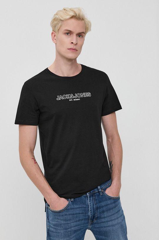 Jack & Jones - Tricou din bumbac negru