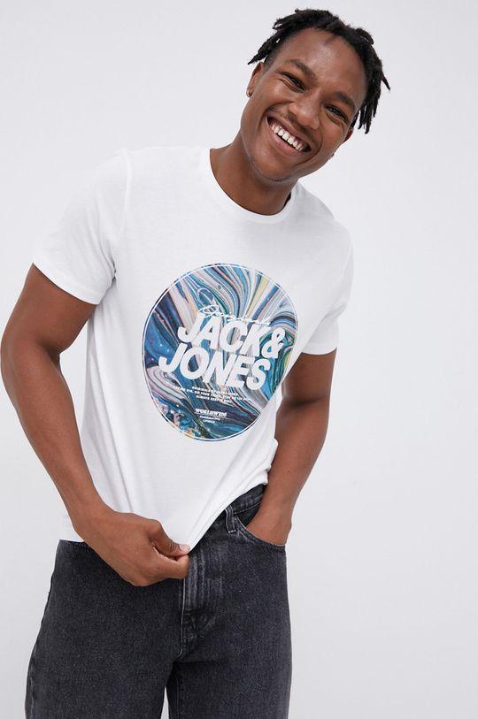 biały Jack & Jones - T-shirt bawełniany Męski