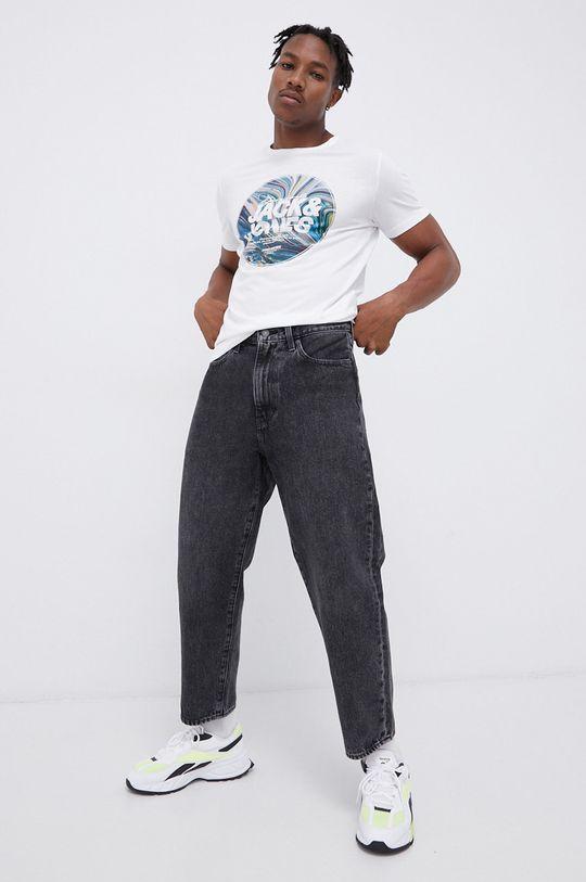 Jack & Jones - T-shirt bawełniany biały