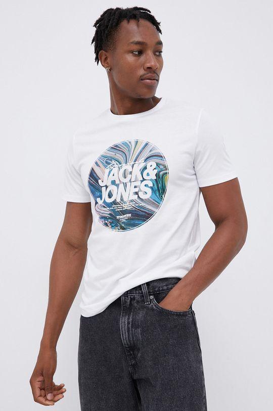 biały Jack & Jones - T-shirt bawełniany