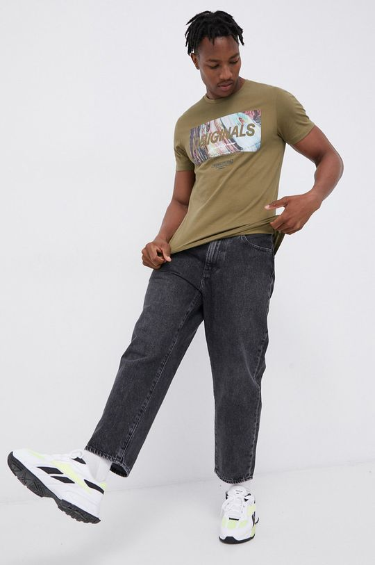 Jack & Jones - T-shirt bawełniany zielony