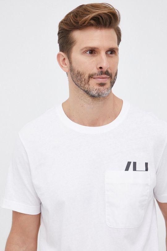 biały Selected - T-shirt bawełniany Męski