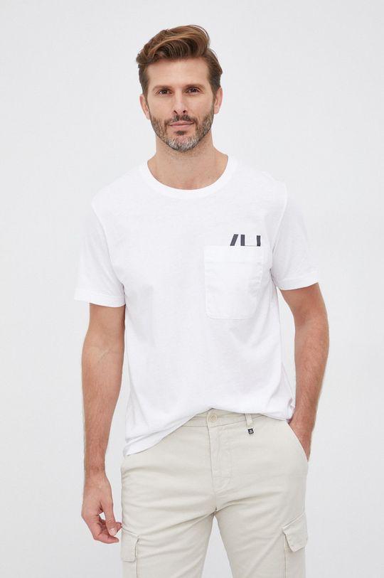 biały Selected - T-shirt bawełniany