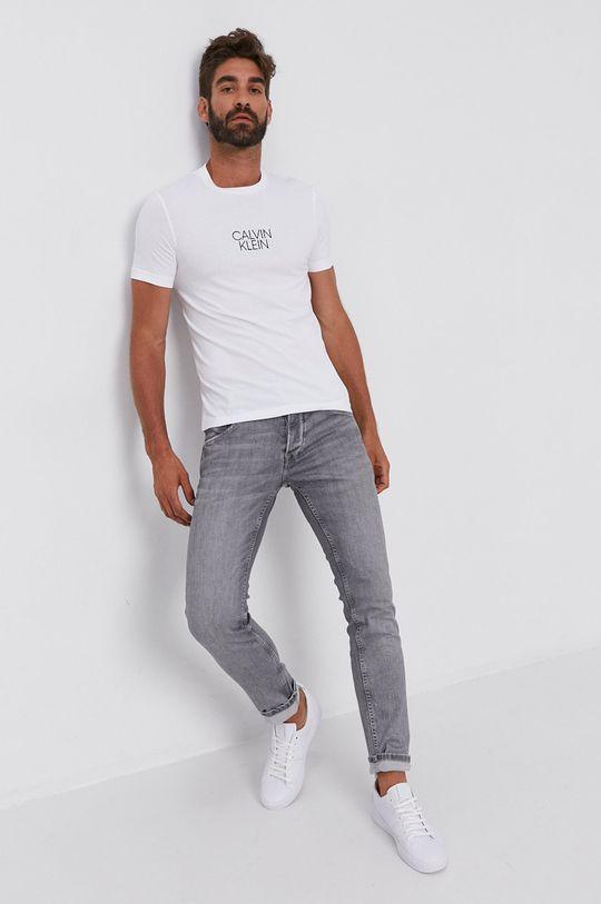 Calvin Klein - T-shirt bawełniany biały