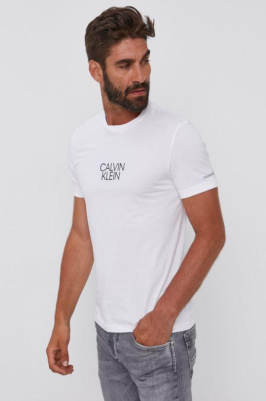 biały Calvin Klein - T-shirt bawełniany