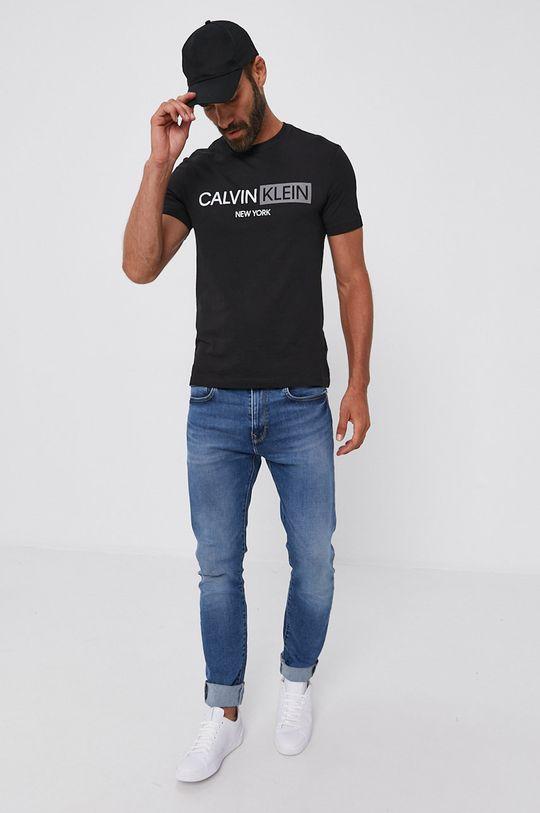 Calvin Klein - Bavlněné tričko černá