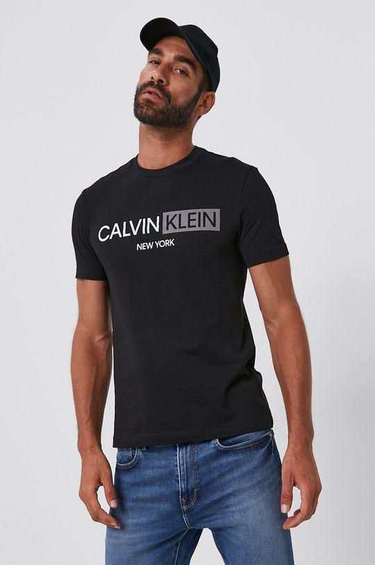 černá Calvin Klein - Bavlněné tričko
