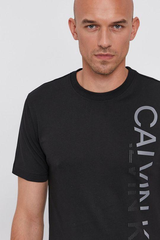 čierna Calvin Klein - Bavlnené tričko Pánsky
