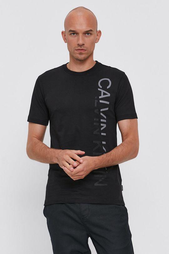 čierna Calvin Klein - Bavlnené tričko
