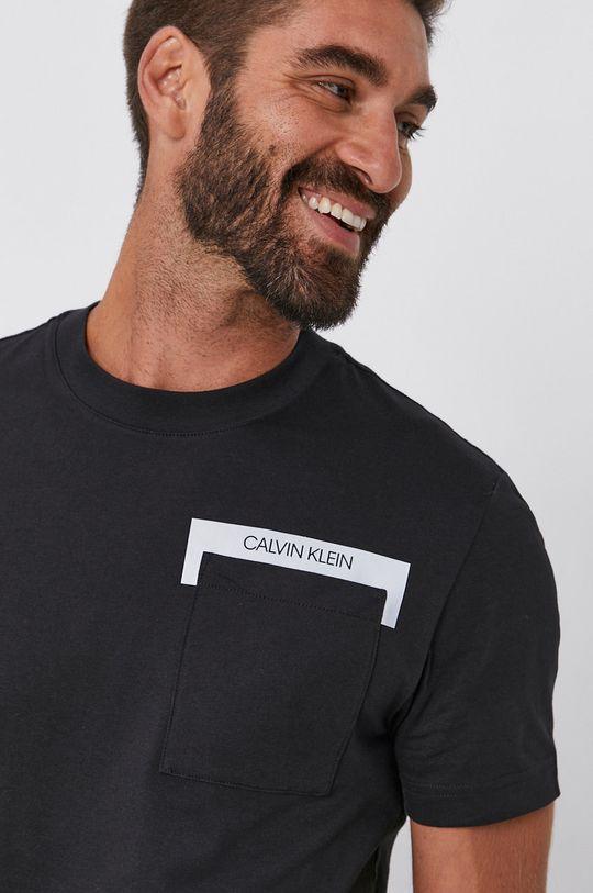 czarny Calvin Klein - T-shirt Męski