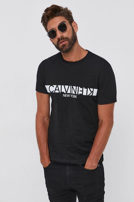 czarny Calvin Klein - T-shirt bawełniany Męski