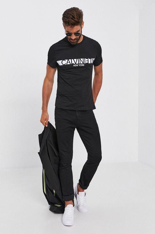 Calvin Klein - T-shirt bawełniany czarny