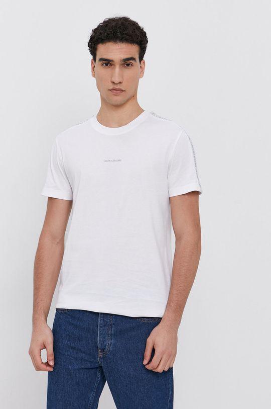 biela Calvin Klein Jeans - Bavlnené tričko Pánsky
