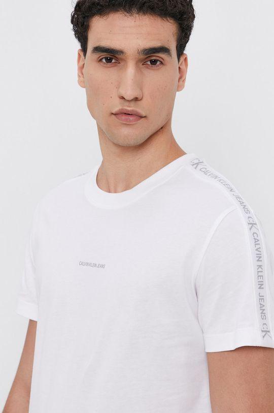 biela Calvin Klein Jeans - Bavlnené tričko