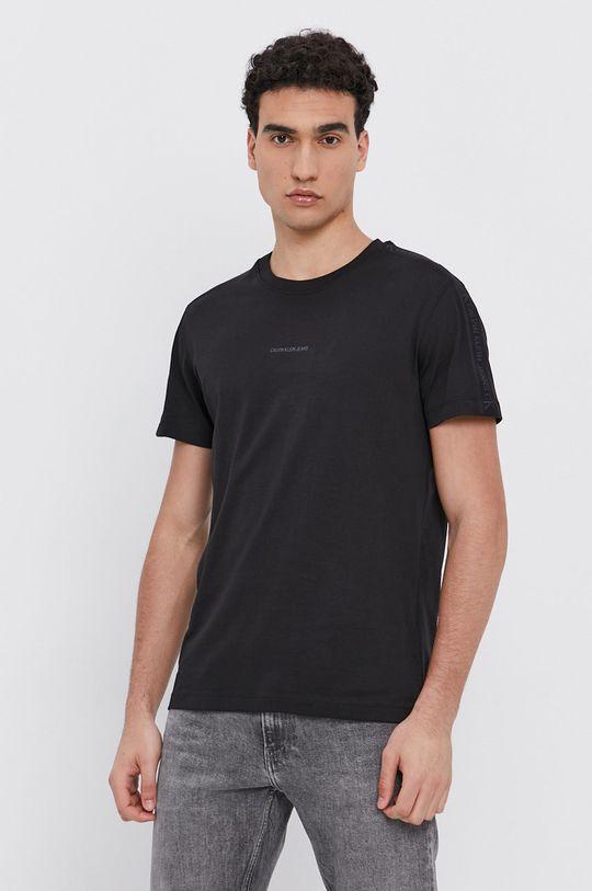 černá Calvin Klein Jeans - Bavlněné tričko Pánský