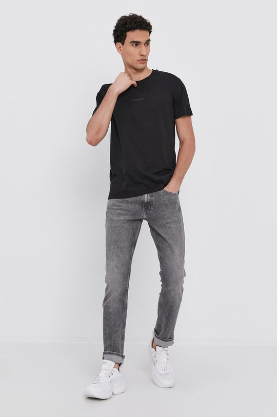 Calvin Klein Jeans - Bavlněné tričko černá