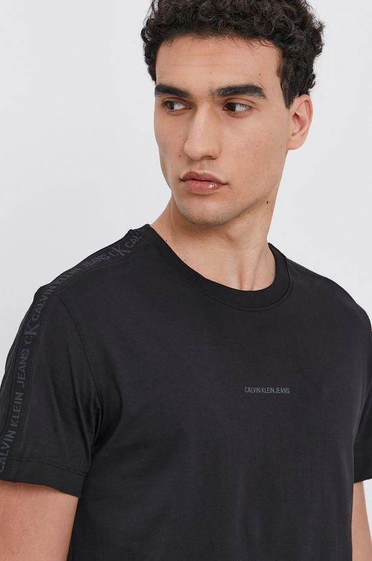 černá Calvin Klein Jeans - Bavlněné tričko