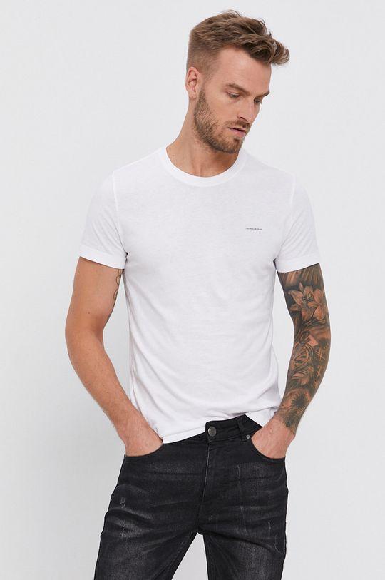 żółty Calvin Klein Jeans - T-shirt (2-pack) Męski