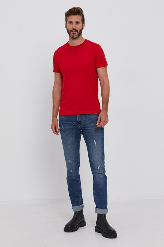 czerwony Calvin Klein Jeans - T-shirt (2-pack)